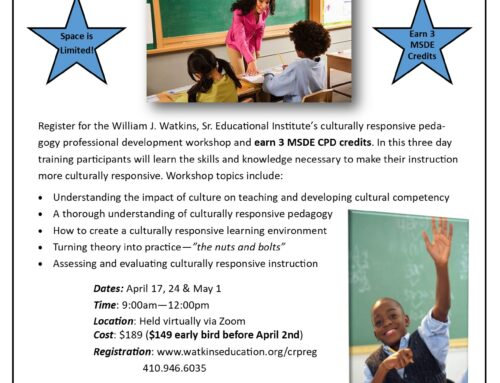 Spring 2021 Implementing a Culturally Responsive Practice Webinar